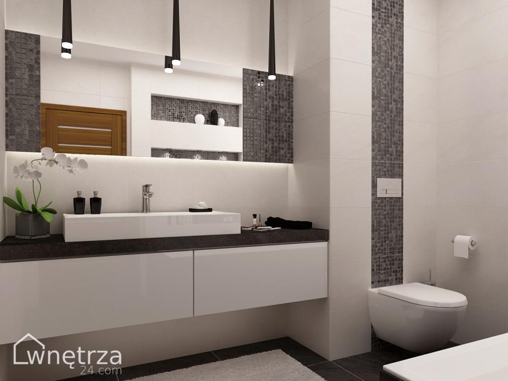 Projekt łazienki Hematyt łazienki Wnetrza24com Gotowe