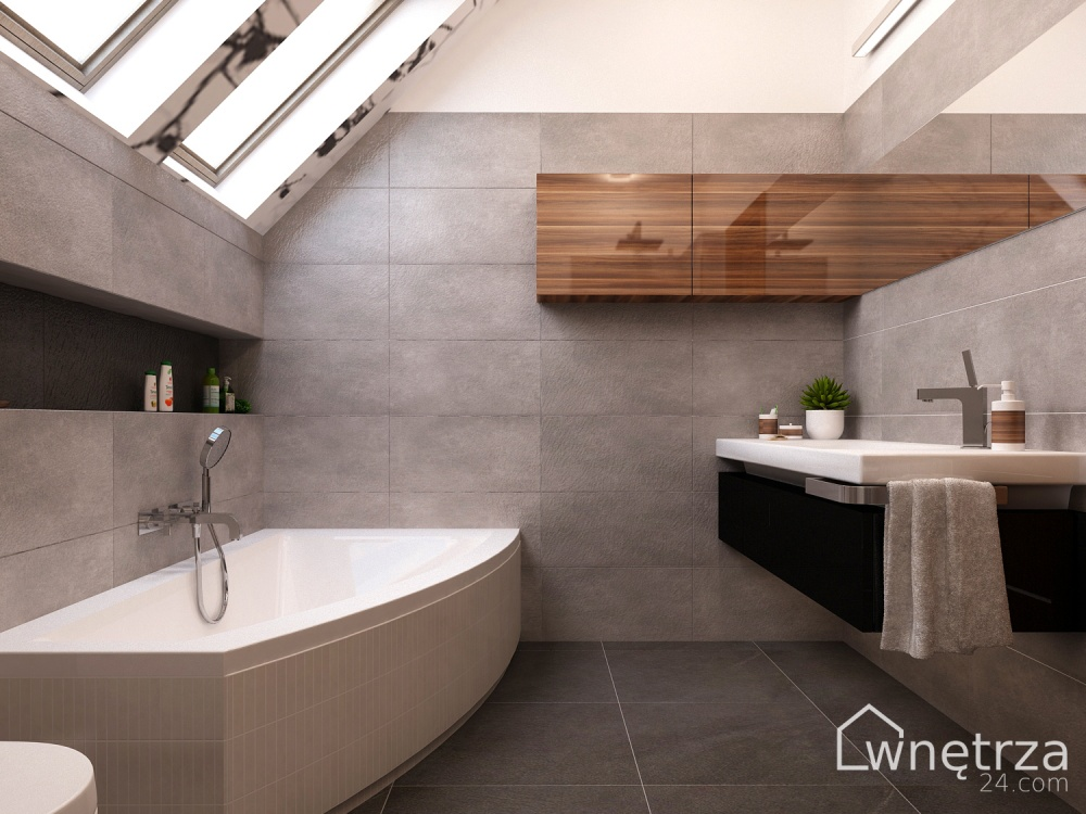 Projekt łazienki Mookait łazienki Wnetrza24com Gotowe