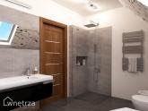 Projekt - szara łazienka